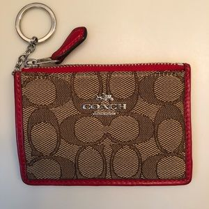 COACH New York ID holder Red with logo